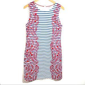 Boden Floral Striped Pocket Shift Dress Sz 8